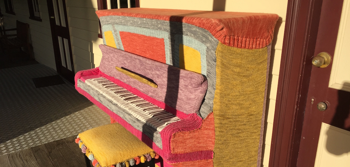 Knitted Piano Cover